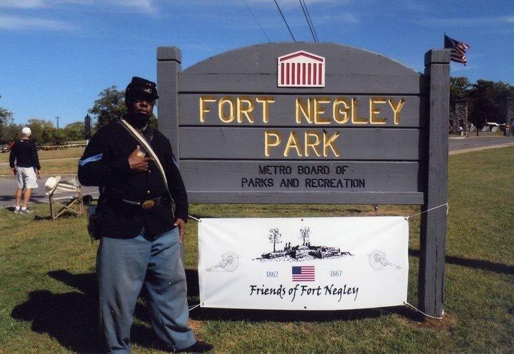Gary Burke Outside Fort Negley