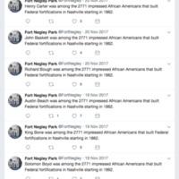 Fort Negley Park Twitter Screenshot