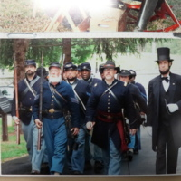Living History Interpreters Representing the Union during the Civil War