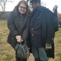 Angela Sutton and Bill Radcliffe at Fort Negley