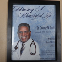 Celebration of Life Flyer for Dr. George W. Smith