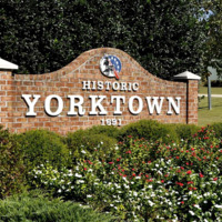 City Limits sign of Yorktown